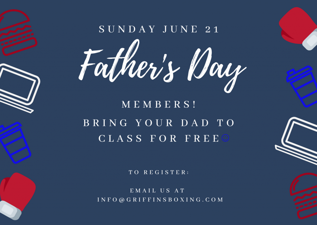 Fathers Day Offers at Griffins Boxing Gym