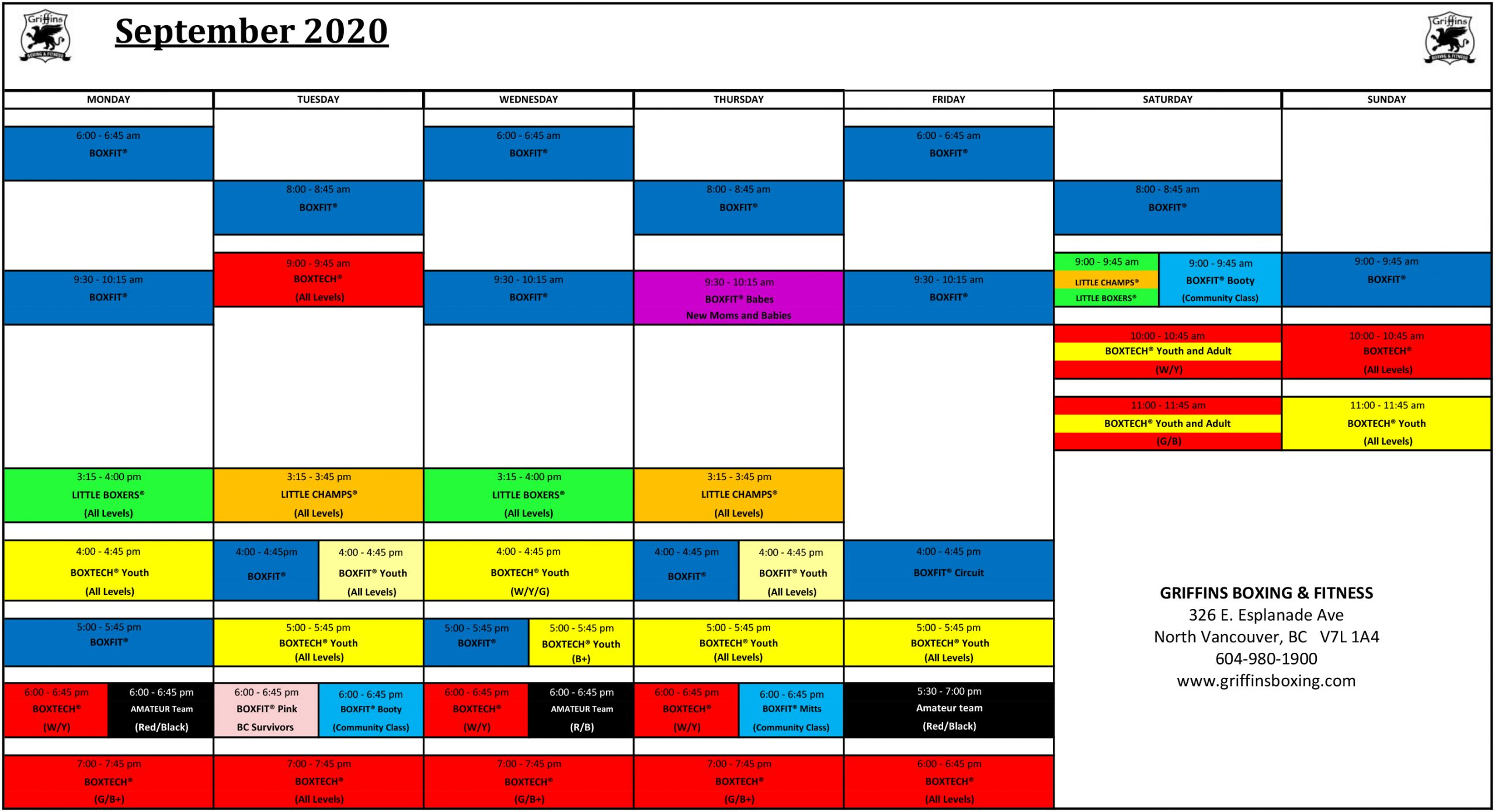 Latest Schedule At Fitness Gym In Vancouver, BC